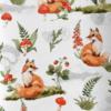 Koc minky rudy leśne liski w poziomkach kocyk minky rudy dla dzieci, dla niemowlaka, dla starszaka, kocyk na jesień i zimę, ciepły kocyk do łóżeczka