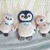 Pingwin wykrój pluszaka, maskotka do uszycia na hafciarkę metodą ITH in the hoop z licencją komercyjną