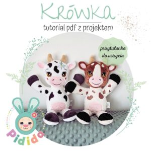 krówka krowa projekt do uszycia na hafciarce z plikami haftów
