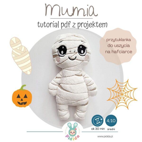 Mumia projekt na halloween ITH na hafciarkę do uszycia
